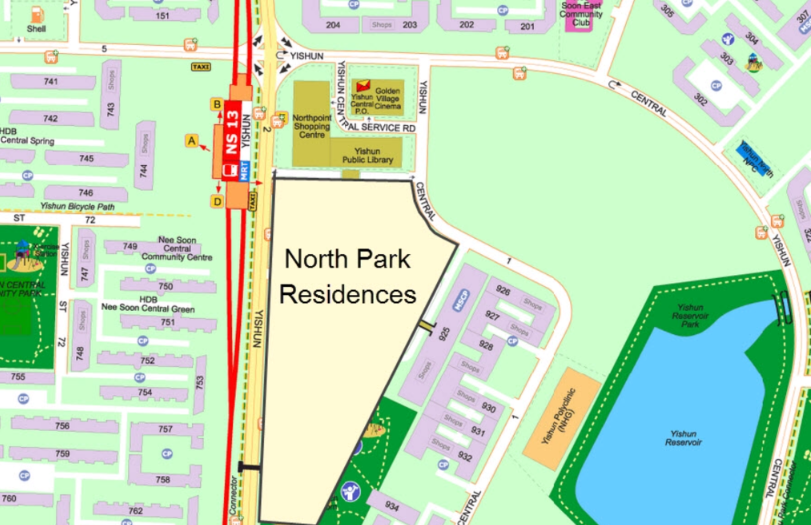 North-Park-Residence-Location-Map